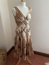 Vintage Prada Print Pleated Dress IT 42