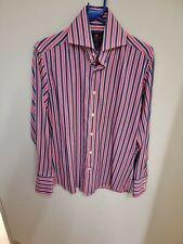 Mens Curtis Pink & Purple Stripe Shirt Size Small