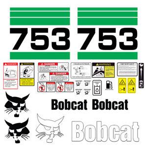 Bobcat 753 Skid Steer Set Vinyl Decal Sticker - 25 PC