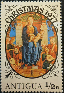 Stamp Antigua SG554 1977 1/2c Christmas Virgin and Child Enthroned Mint Hinged