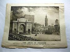 Arch of Freedom Memorial War Art Poster Chesley Bonestell Print Vtg Old WWI