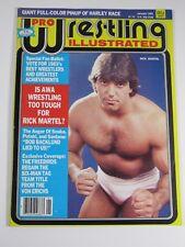 Pro Wrestling Illustrated Magazine January 1984 Rick Martel Harley Race Poster