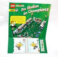 3x Lego System * Karstatt LeBuffet Champions Fussball-Stadion 1998 Pappe * 10955