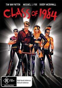 Class of 1984 DVD Michael J Fox 1982 Movie R18+ - AUSTRALIAN REGION PAL RELEASE