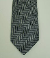 New Kiton Napoli Black Label 7 Fold Tie Handmade in Italy of 100% Wool 15-Micron