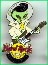 Hard Rock Cafe MEMPHIS 1999 2nd Anniversary PIN Alien ELVIS Playing Guitar #5620
