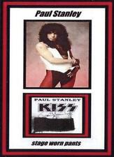 Kiss Paul Stanley Actual Stage Worn Crazy Nights Black Clothing Display