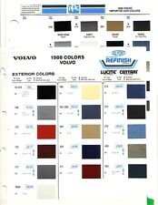 1986 VOLVO PAINT CHIPS (DUPONT AND PPG)