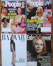 GWYNETH PALTROW on ENTERTAINMENT WEEKLY, HARPER'S BAZAAR & 2 PEOPLE  MAGAZINES