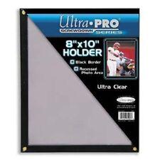 "Ultra Pro 8""x10"" Black Border 4-Screw Screwdown 8x10 Photo Card Holder Mountable"