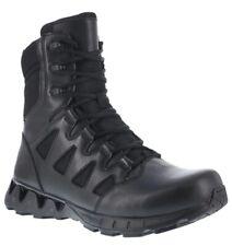 """New Reebok Men's ZigKick Side Zip Tactical 8"""" Black Tactical Boots - RB8845"""