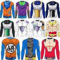Men Compression Fitness T-Shirts 3D Saiyan Goku DBZ Jersey Dragon Ball Top Shirt