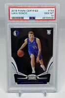 2018-19 Panini Certified LUKA DONCIC Rookie RC #153 PSA 10 Gem Mint