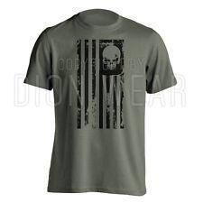 American Flag Skull Punisher Sniper Legend Military Men's T-shirt