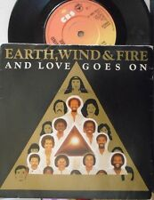 "EARTH WIND & FIRE ~ And Love Goes On ~ 7"" Single PS"