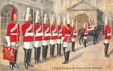 POSTCARD   MILITARY  Horse  Guards  4 o'clock  parade   Whitehall