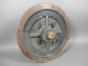 "Antique 20"" Train Railroad Wheel Pulley Wooden Industrial Foundry Mold Pattern"