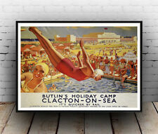 Butlins Clacton : Old Advertising Poster reproduction