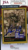 Sam Huff 1991 Enor Hall Of Fame Jsa Coa Hand Signed Authentic Autograph