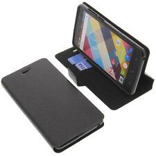 étui pour Cubot ARC EN CIEL STYLE LIVRE Etui Housse téléphone mobile Noir