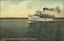 Steamer Ship Modjeska Between Toronto & Hamilton c1910 Postcard