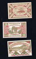3x 75 Pf Notgeld Gutschein der Gemeinde GRUNDHOF (Kr. Schleswig-Flensburg) top