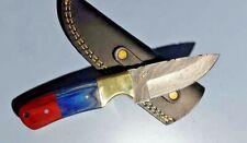 MH KNIVES CUSTOM HANDMADE  DAMASCUS STEEL FULL TANG HUNTING/SKINNER KNIFE 312V