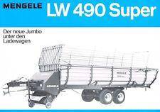 Mengele LW 490 Super, orig. Prospekt 1981