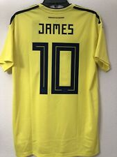 James Colombia 2018 World Cup Soccer Jersey Football Shirt Men's L