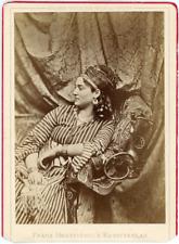 Orient, Femme allongée sur divan de profil, ca.1880, vintage albumen print Carte
