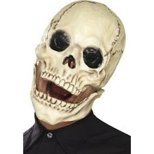 UNISEX SKULL SKELETON GRIN OVERHEAD MASK HALLOWEEN SCARY FANCY DRESS HORROR