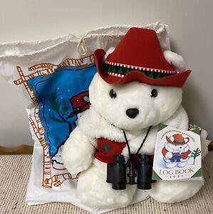 1995 Dayton's Hudson Santa Bear Conservation Corps w Original Tag, Bag, Receipt