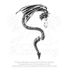 Alchemy - Crystal Dragon - Pewter and Crystal Ear Wrap - Right Ear