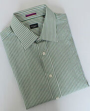 Paul Smith Shirt Size 15.5 Medium Green Stripes London Range