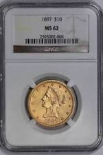 Gold NGC Certified MS 62 Graded US Coins