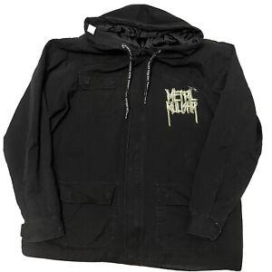 Metal Mulisha Canvas Hoodie Jacket Black Size XL