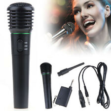 Pro Wireless Wired Cordless DJ Karaoke Public Address PA Mic Microphone System