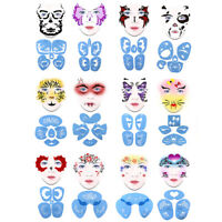 1set Soft Face Paint Stencil Reusable Template Tattoo Painting Makeup ToolsATDD
