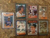 (7) Will Clark 1986 USA Promo Fleer Topps Donruss Rookie Card Lot RC Giants 1987