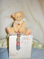 "Cherished Teddies 176141 Nolan ""A String of Good Tidings"" 1996 New in Box"