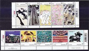 SINGAPORE 2006 ART SERIES TAN SWIE HIAN 2 SE-TENANT STRIP OF 10 STAMPS MINT MNH