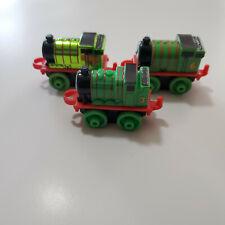 RARE Thomas The Train Minis Lot - Green PERCY Metallic Versions & Regular