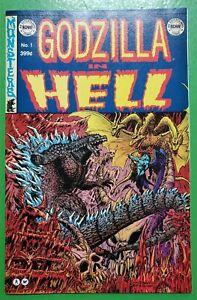 Godzilla in Hell #1 EC Homage Stokoe Variant HTF Low Print Run 2015 IDW