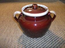 Vtg McCoy 342 Bean Pot w Lid Canister Cookie Jar Brown Drip Glaze Flour Sugar