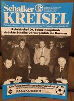 FC Schalke 04 + Schalker Kreisel Magazin + 14.03.1987 Bundesliga FC Homburg /592