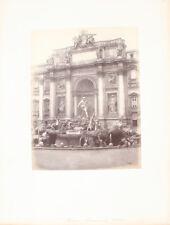 ALBUMEN PHOTO OF THE FAMED TREVI FOUNTAIN - ROME, ITALY