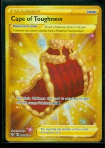 Pokemon CAPE OF TOUGHNESS 200/185 Vivid Voltage - SECRET RARE FULL ART - - MINT