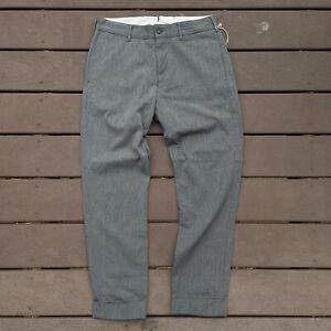 Engineered Garments Cinch Pants Gray Herringbone Wool Sz. 32