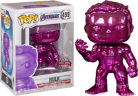 Funko Pop Vinyl Marvel Avengers  Endgame Hulk Purple Chrome