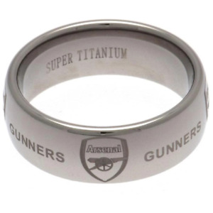 Arsenal FC Super Titanium Ring Large
